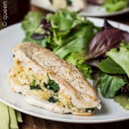 Quinoa and Goat Cheese Stuffed Chicken