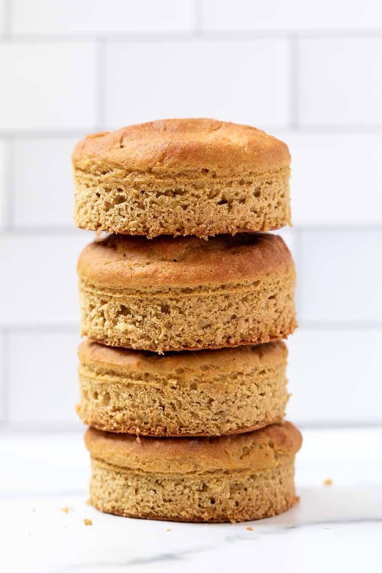 Stack of Gluten-Free English Muffins