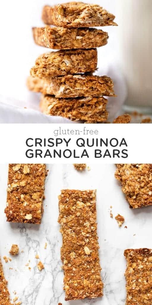 crispy quinoa granola bars