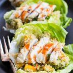 Tropical Quinoa Lettuce Wraps with Mango + Grilled Chicken | www.simplyquinoa.com