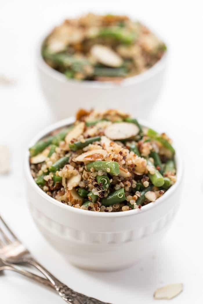 green bean almond quinoa salad recipe