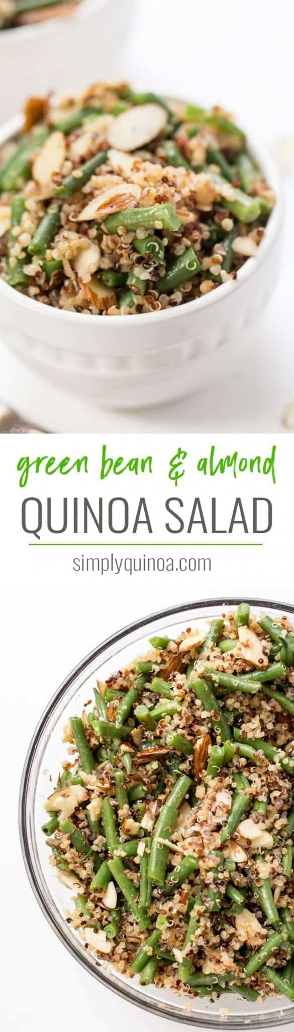 healthy green bean and almond quinoa salad