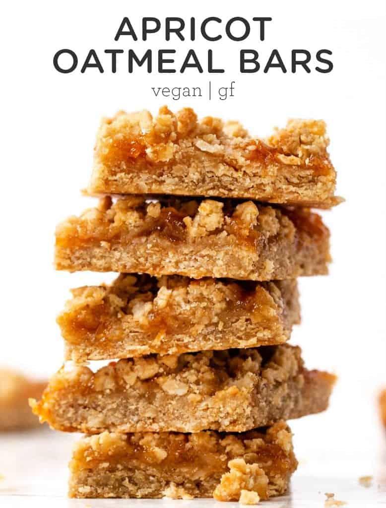 Healthy Apricot Oatmeal Bars