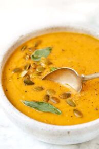 Vegan Pumpkin Soup with Coconut Milk