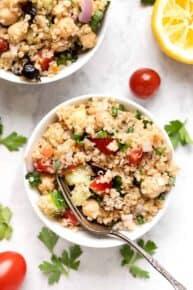 Greek Quinoa Salad Vegan
