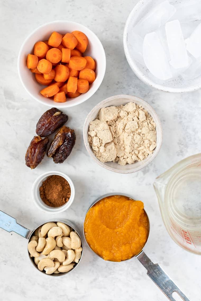 Ingredients for Pumpkin Smoothie