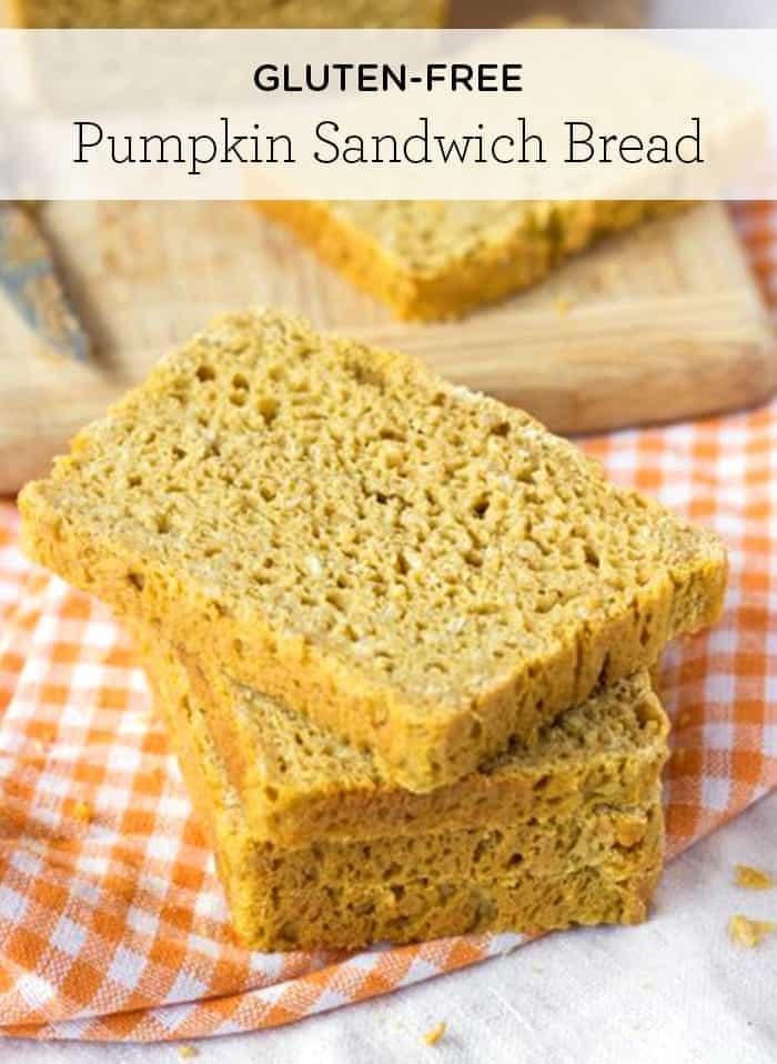 Gluten-Free Pumpkin Sandwich Bread