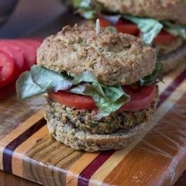 Quinoa-Eggplant Burgers [+ a quinoa giveaway]