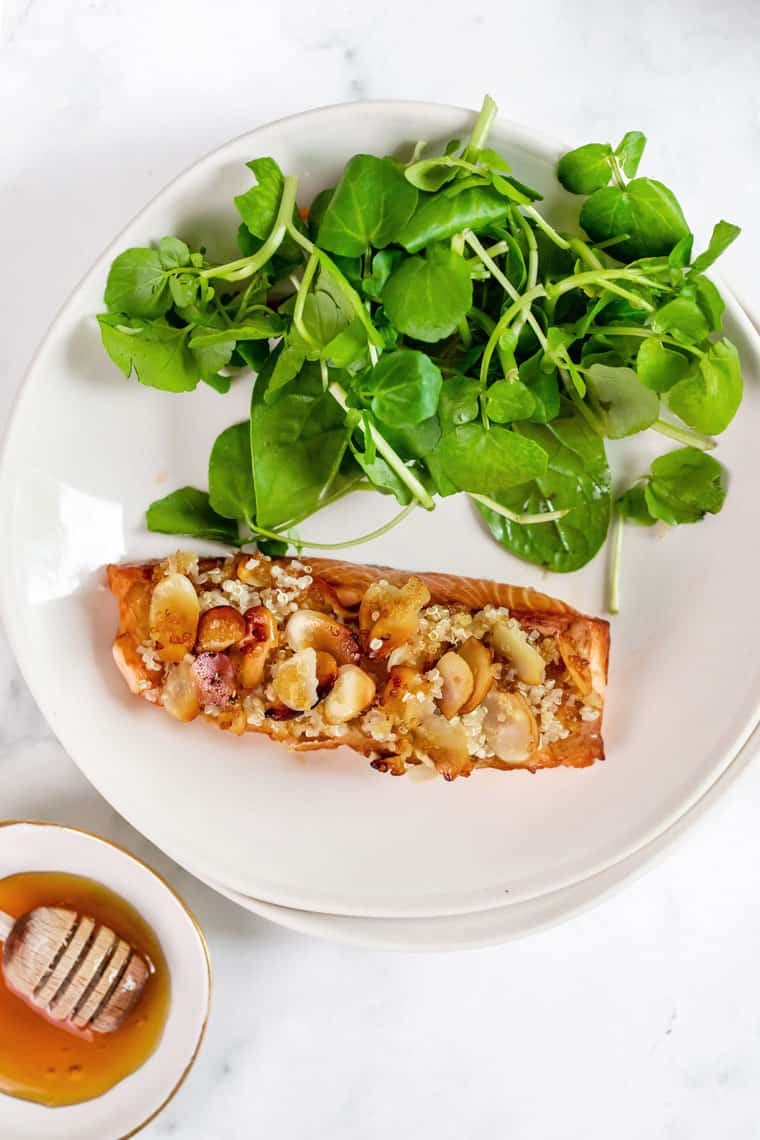 Easy Almond Crusted Salmon Recipe