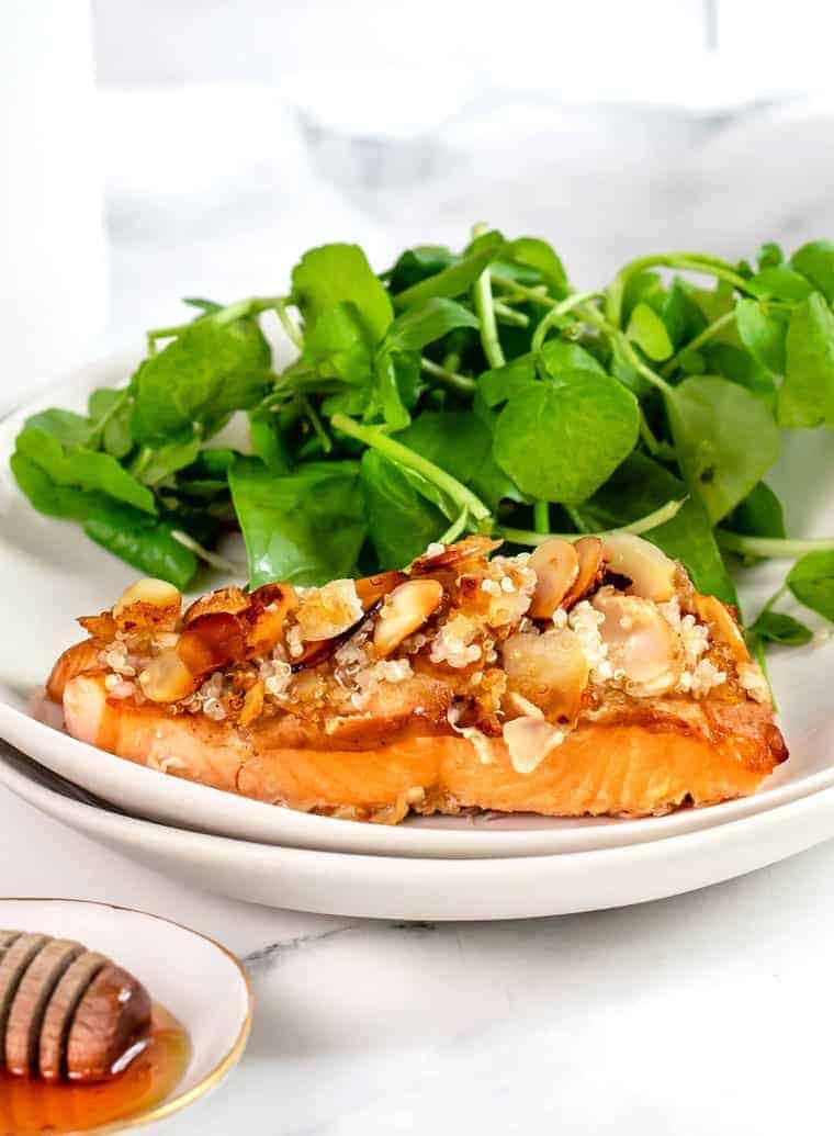 Honey Almond Crusted Salmon Recipe