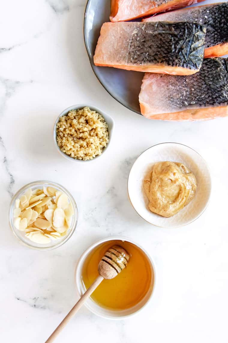 Ingredients for Crusted Salmon