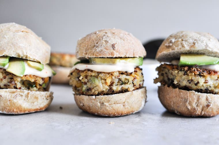 Crispy Quinoa Sliders from How Sweet Eats