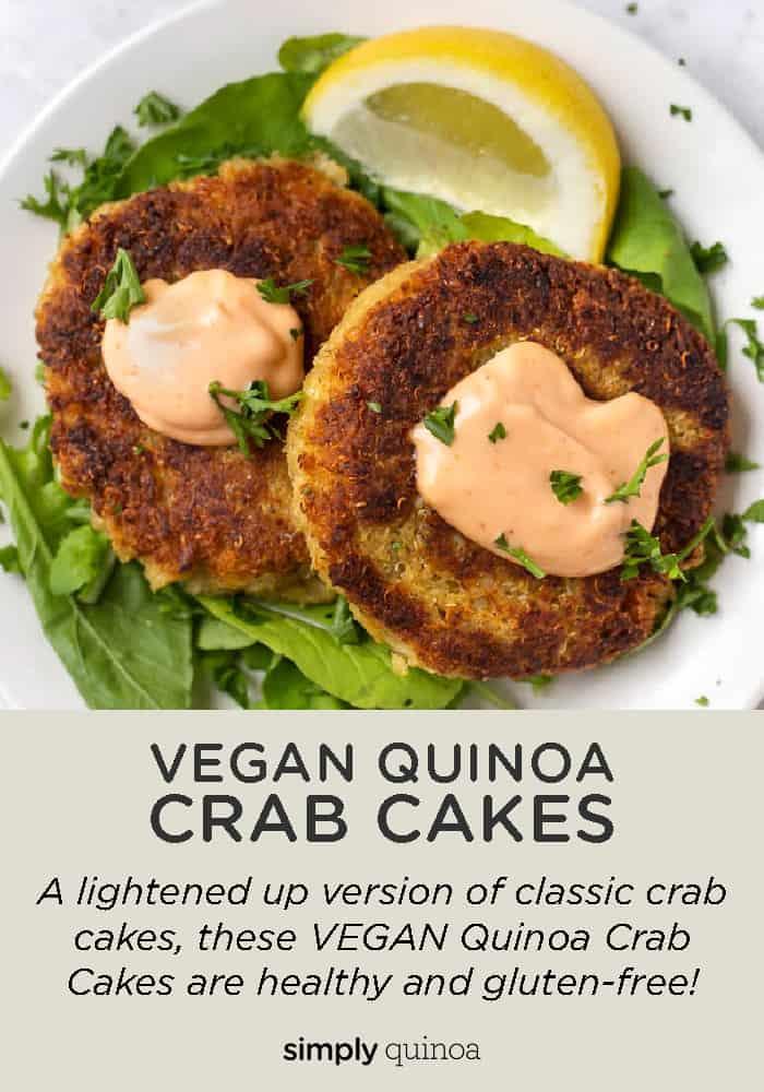 Vegan Quinoa Crab Cake