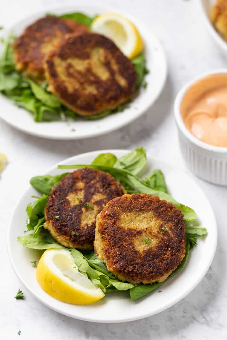 Healthy Vegan Crab Cakes with Quinoa