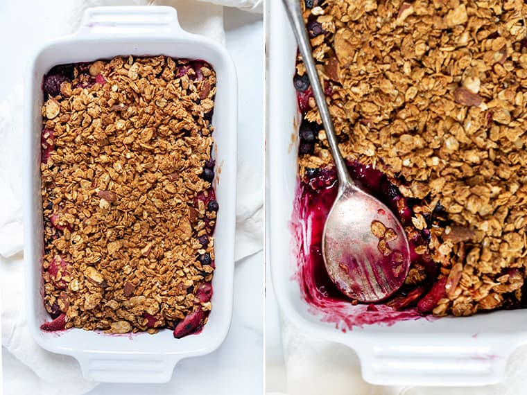 Freshly Baked Mixed Berry Crumble