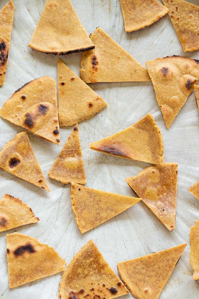 Homemade Quinoa Tortilla Chips