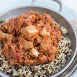 Chicken & Sausage Cassoulet with Rainbow Quinoa