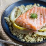 Citrus & Fennel Roasted Salmon with Herbed Quinoa
