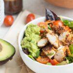 Game Day Salad with Crispy Quinoa Chicken