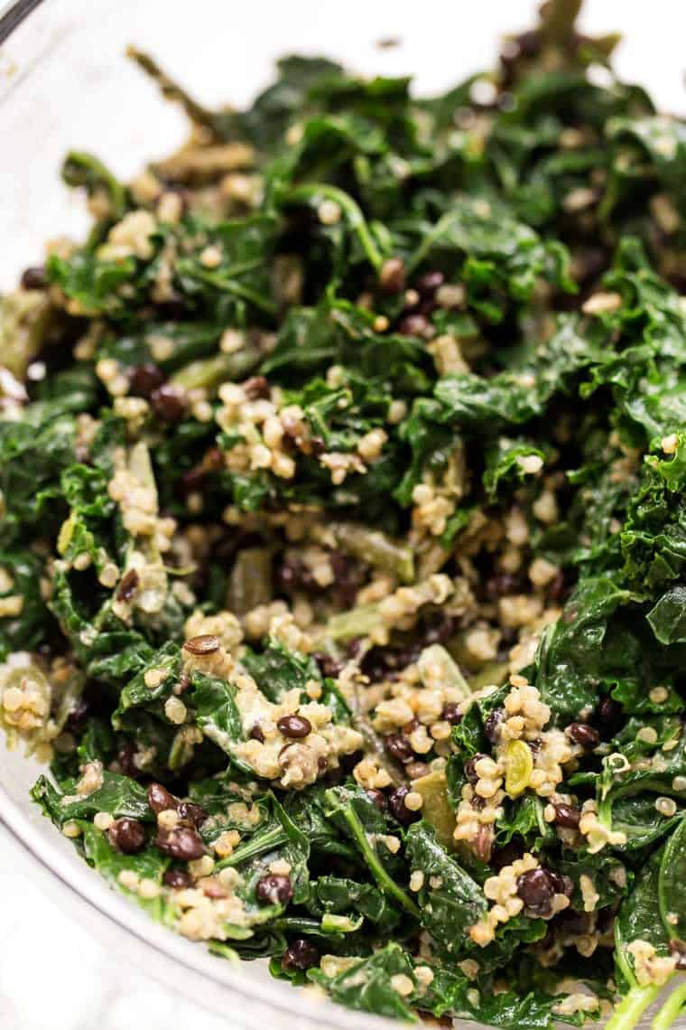 Lentil Quinoa Salad with Kale