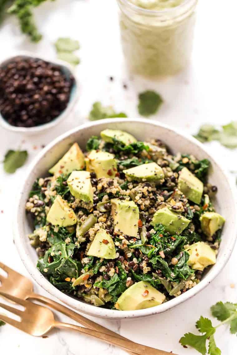 Healthy Lentil Quinoa Salad