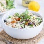 Quinoa Greek Salad with Chickpeas