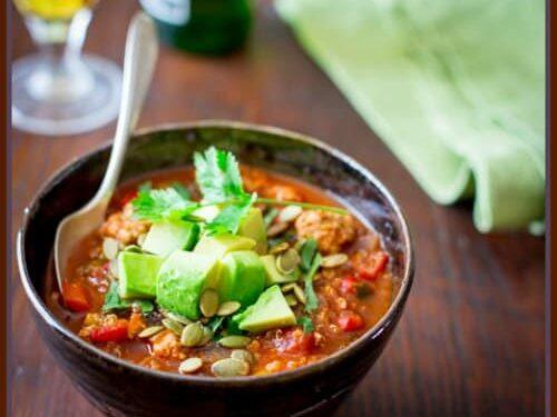 Turkey Picadillo Quinoa Chili