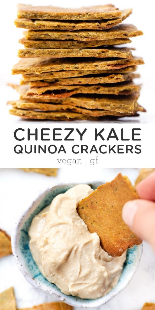 Cheezy Kale Quinoa Crackers