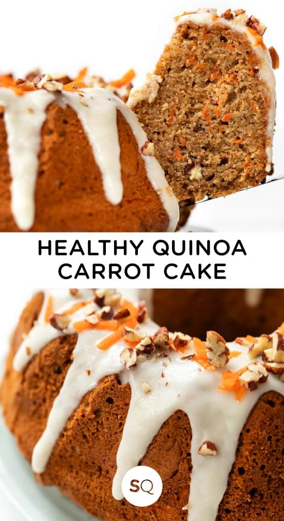Healthy Quinoa Carrot Cake