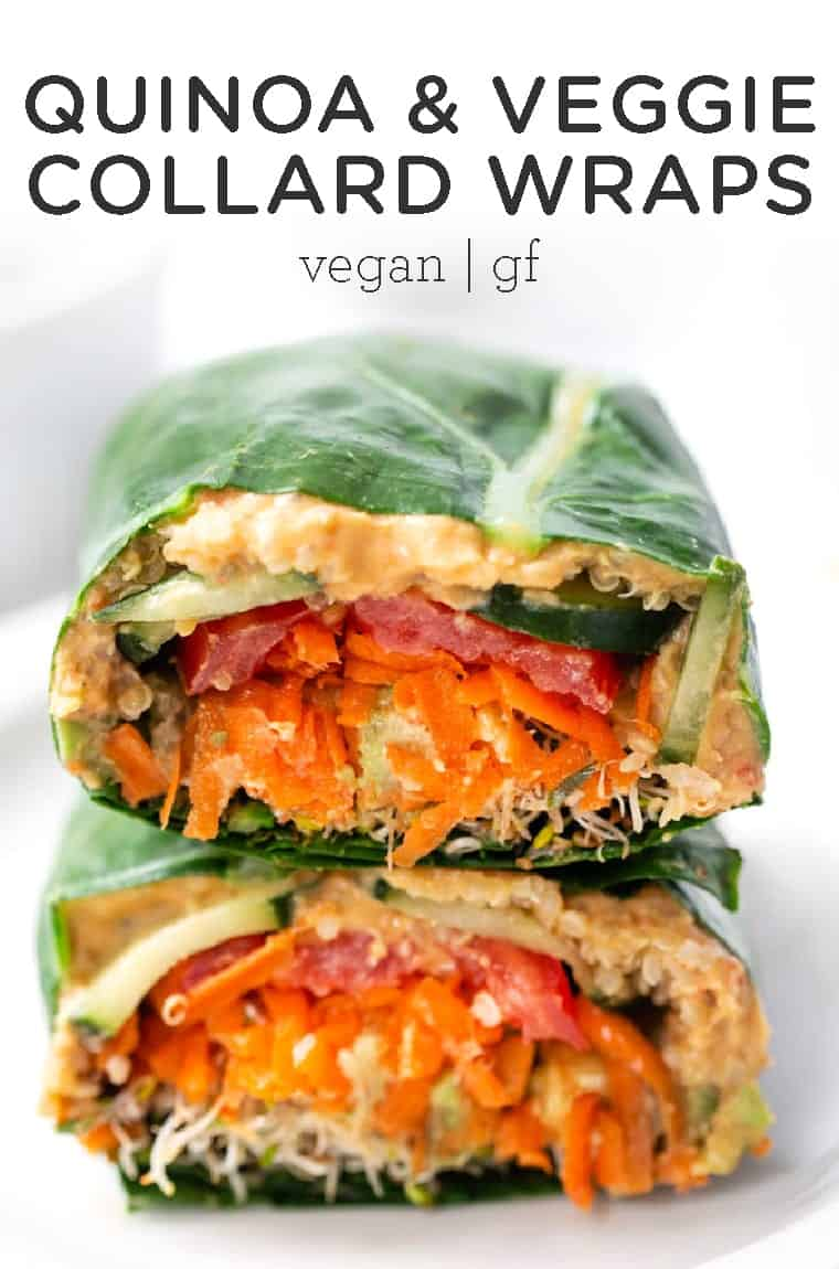 Healthy Veggie Collard Wraps