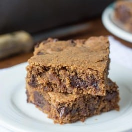 Almond Butter Quinoa Blondies with dairy-free chocolate chips
