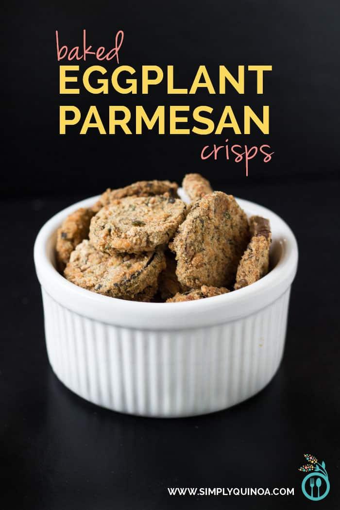 Baked Eggplant Parmesan Crisps - recipe from Simply Quinoa (www.simplyquinoa.com)