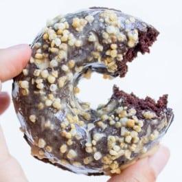 Baked Gluten-Free Chocolate Donuts with an Espresso Glaze