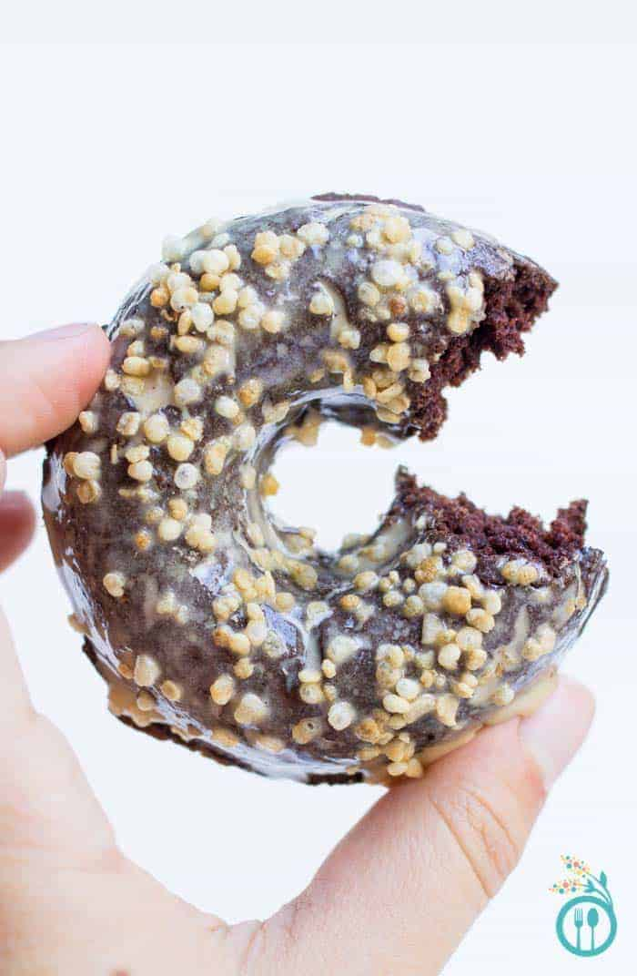 Baked Gluten-Free Chocolate Donuts with an Espresso Glaze