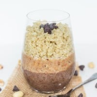 Chocolate & Peanut Butter Quinoa Breakfast Parfait
