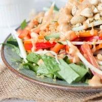 Quinoa Pad Thai Salad found via simplyquinoa.com