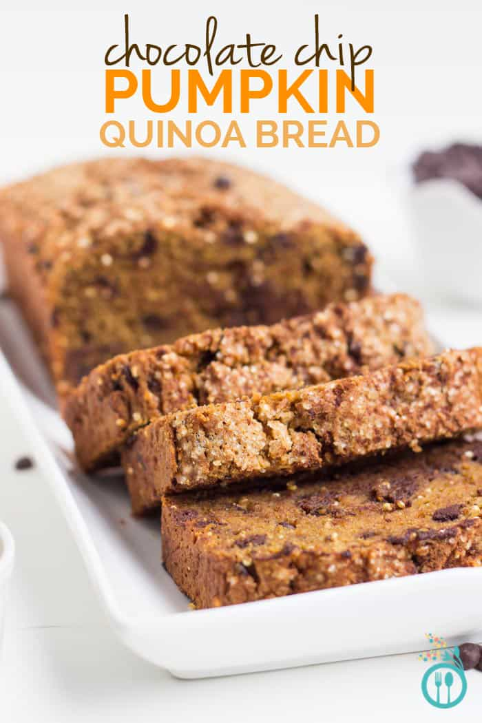 Pumpkin Chocolate Chip Quinoa Bread - Simply Quinoa