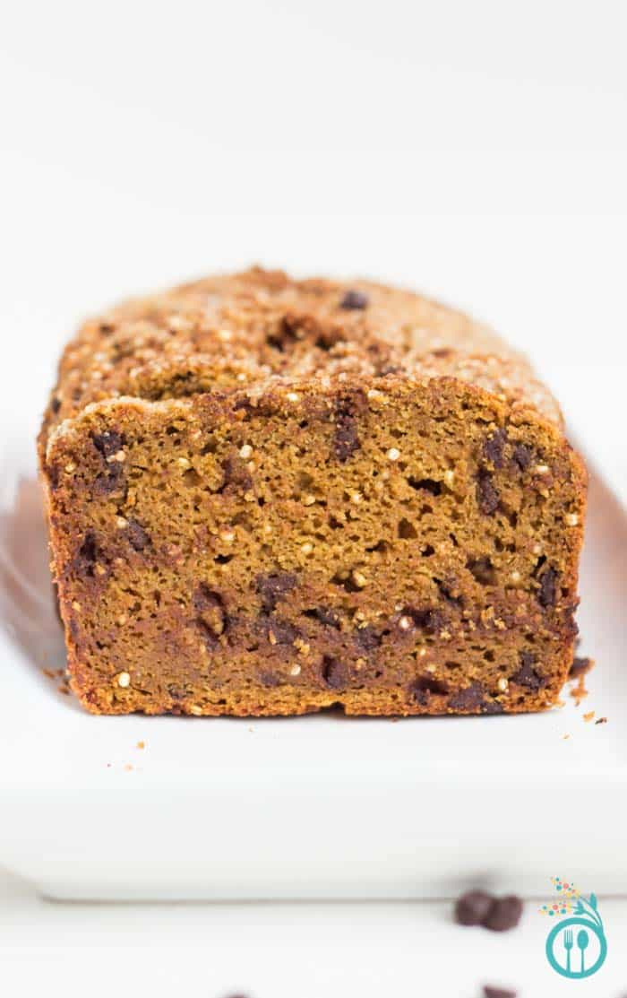 Chocolate Chip Pumpkin Bread with Quinoa