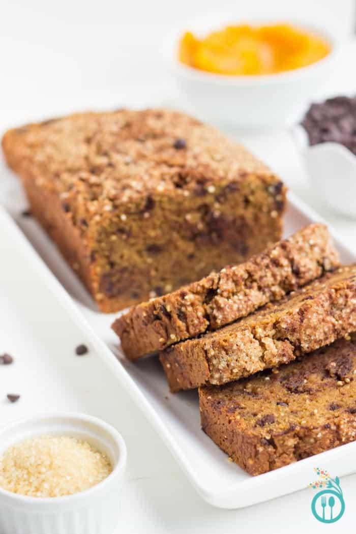 Gluten-Free Pumpkin Quinoa Bread via simplyquinoa.com