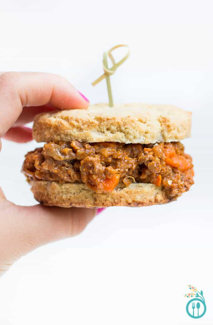 Slow Cooker Sloppy Joes made with quinoa