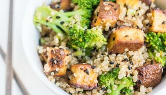Tofu & Broccoli Vegetarian Quinoa Stir-Fry