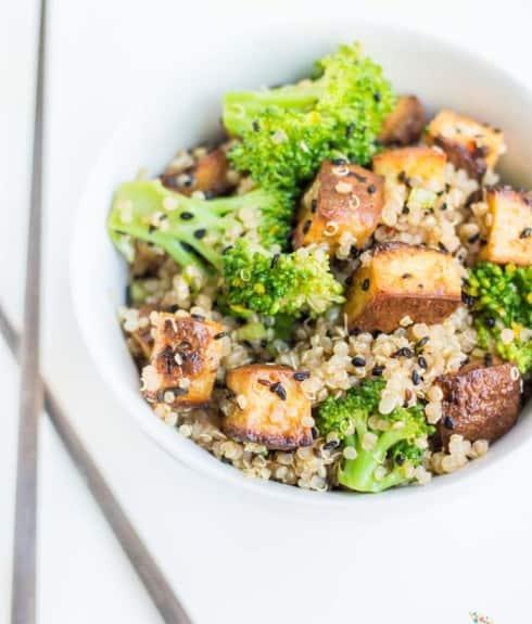 Tofu & Broccoli Vegetarian Quinoa Stir-Fry