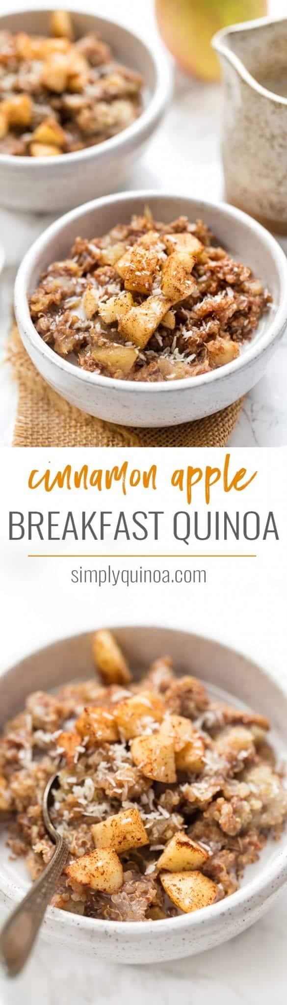 how to make cinnamon apple breakfast quinoa recipe