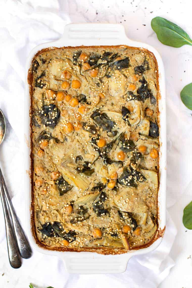 Healthy Veggie Quinoa Casserole Recipe