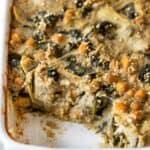 Vegan Quinoa Bake with Spinach & Artichokes