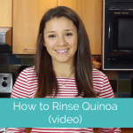 How to Rinse Quinoa (a video tutorial)