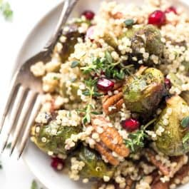 Roasted Brussels Sprout Quinoa Salad