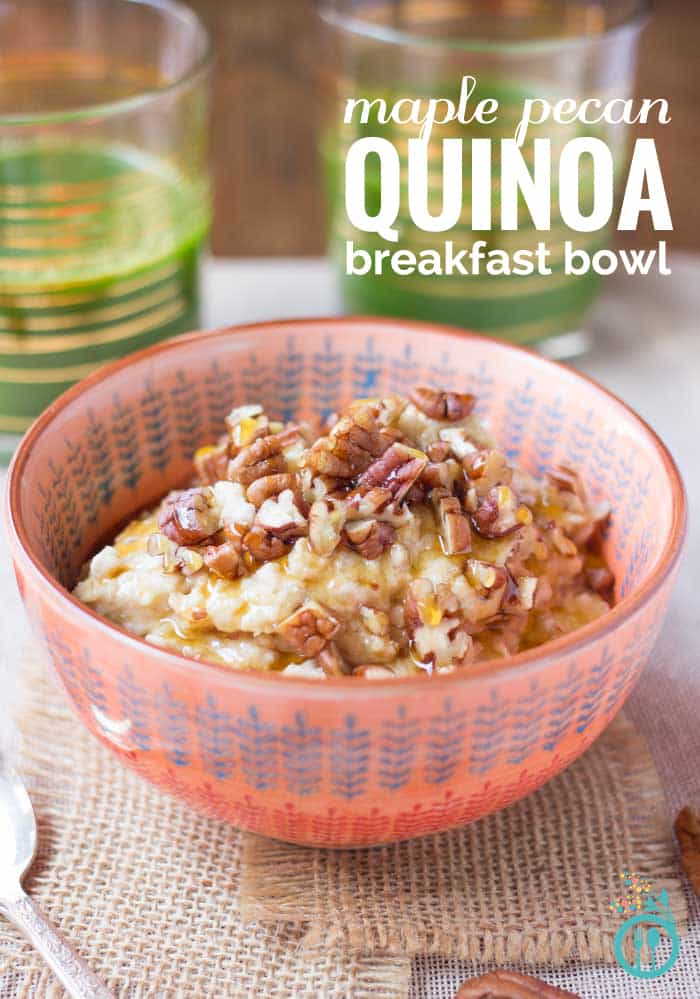 Maple Pecan Quinoa Flake Breakfast - a healthy, vegan breakfast to fuel your day
