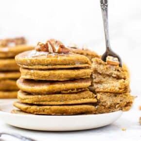 Healthy Gluten-Free Pumpkin Pancakes