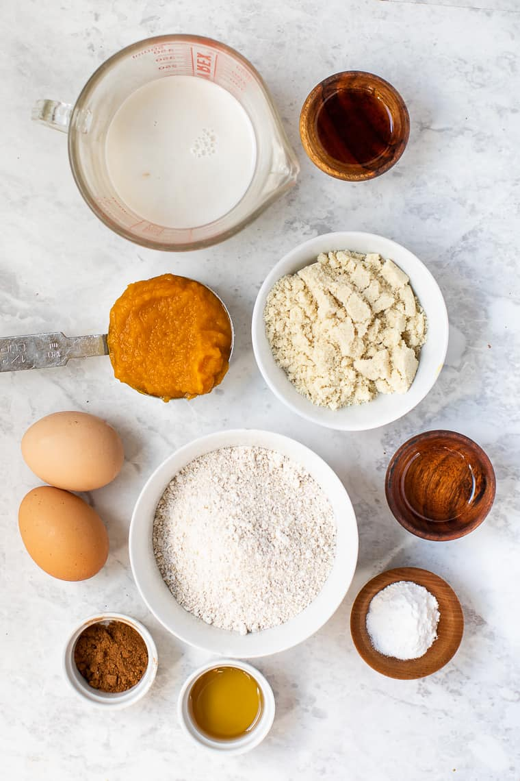 Ingredients for Pumpkin Pancakes
